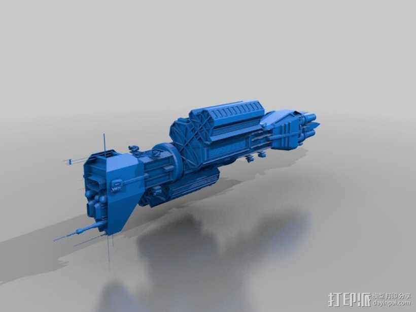 Omega 飞船 3D打印模型渲染图