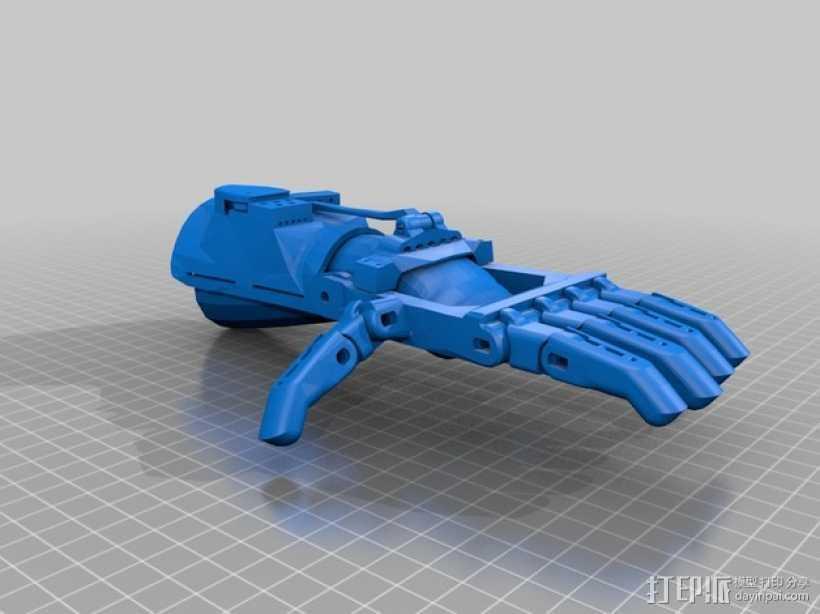 假肢 手  3D打印模型渲染图