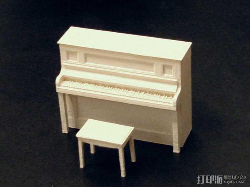 钢琴和凳子 3D打印模型渲染图