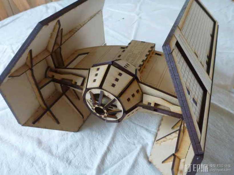 达斯维德的钛战机 3D打印模型渲染图