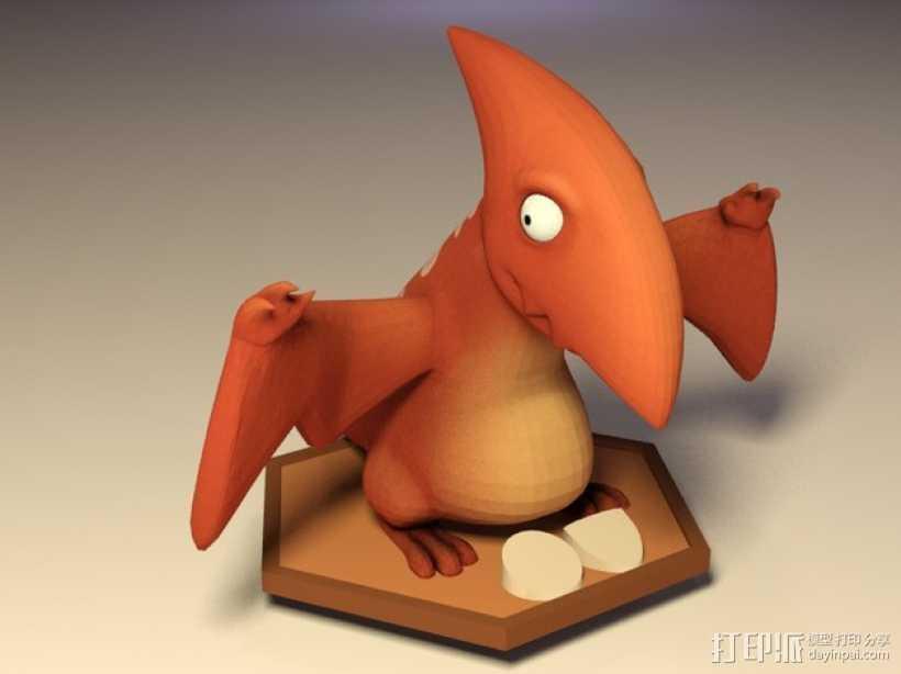 游戏人物玩偶 3D打印模型渲染图