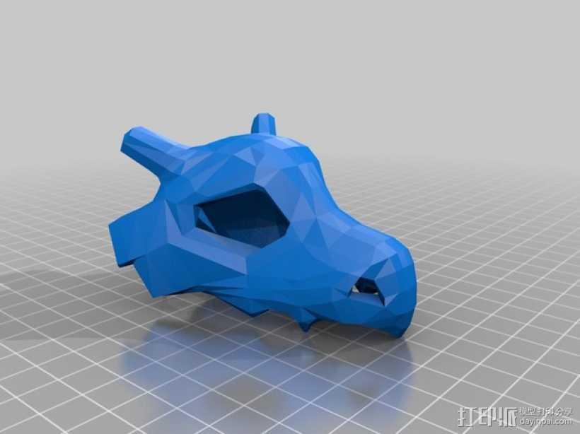 可拉可拉中空头骨 3D打印模型渲染图