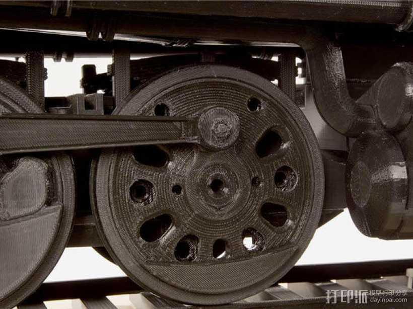 火车驱动轮 3D打印模型渲染图
