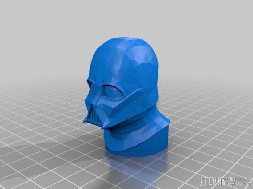 达斯维德半身像 3D打印模型渲染图