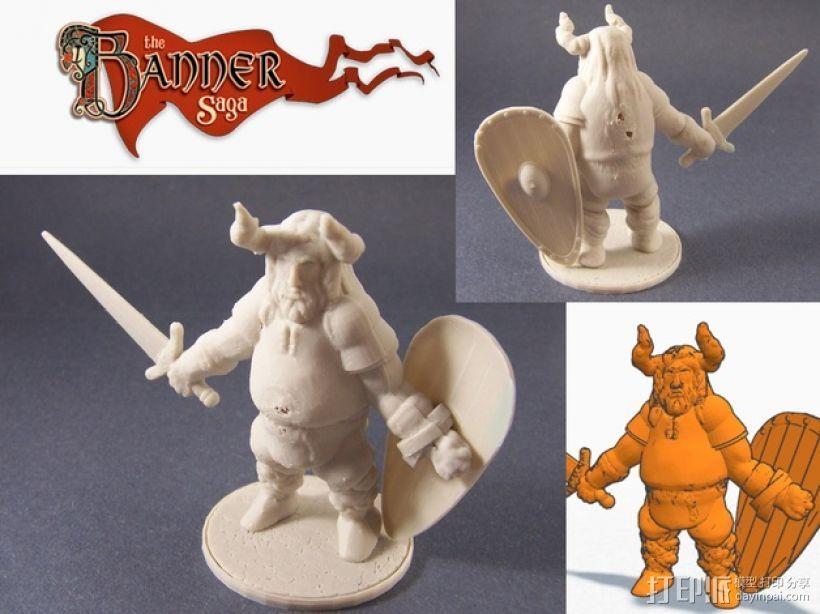 Varl Shieldbanger 游戏人物模型 3D打印模型渲染图