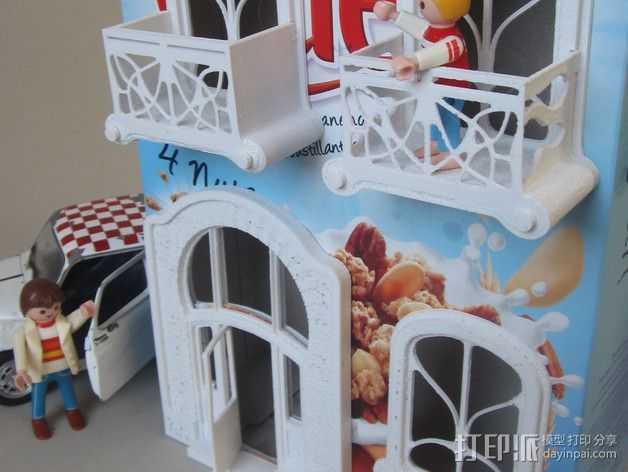 新艺术派房屋 饼干盒 3D打印模型渲染图