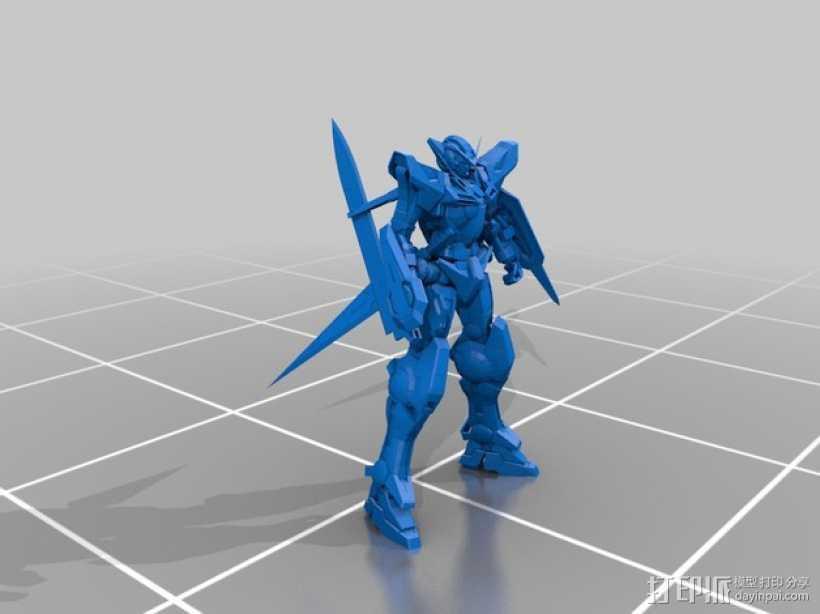 能天使高达 3D打印模型渲染图
