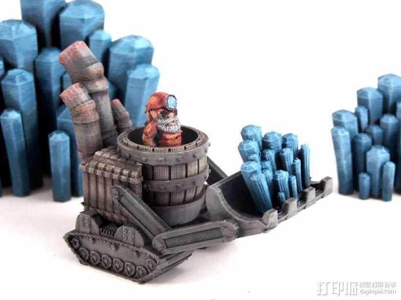 小矮人 3D打印模型渲染图