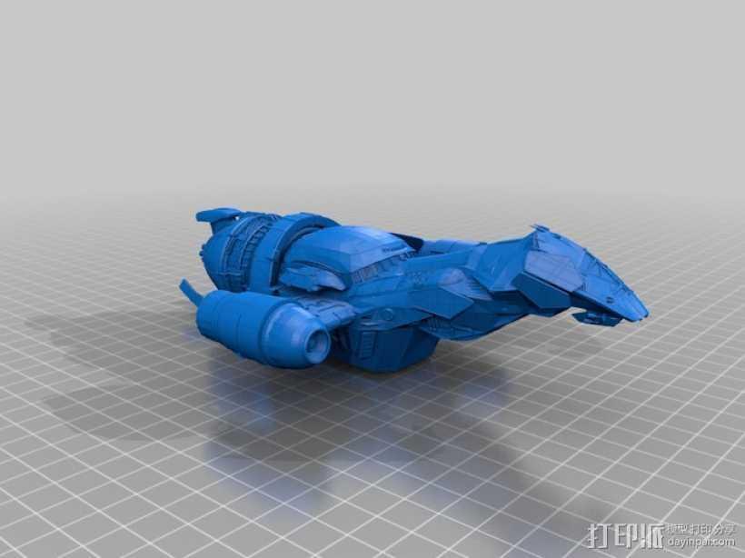 宁静号运输机 3D打印模型渲染图
