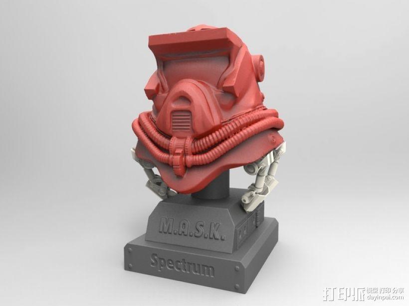 蒙面斗士的头盔 3D打印模型渲染图