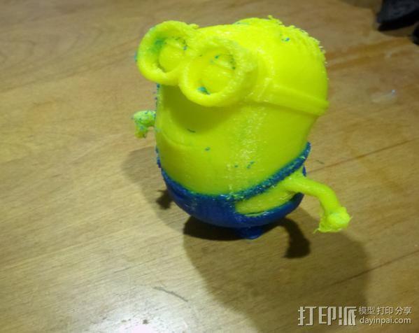 小黄人模型 3D打印模型渲染图
