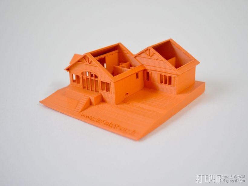 加拿大小屋 3D打印模型渲染图