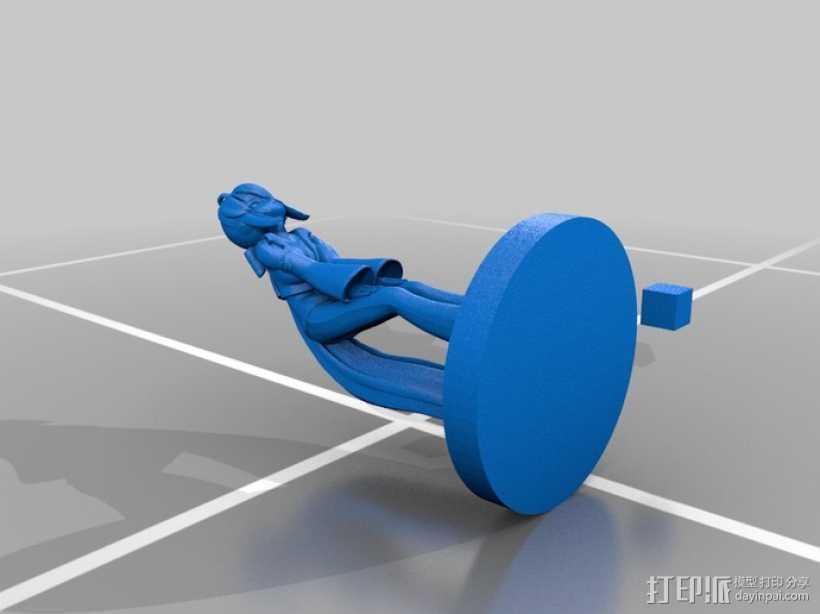 初音未来模型 3D打印模型渲染图