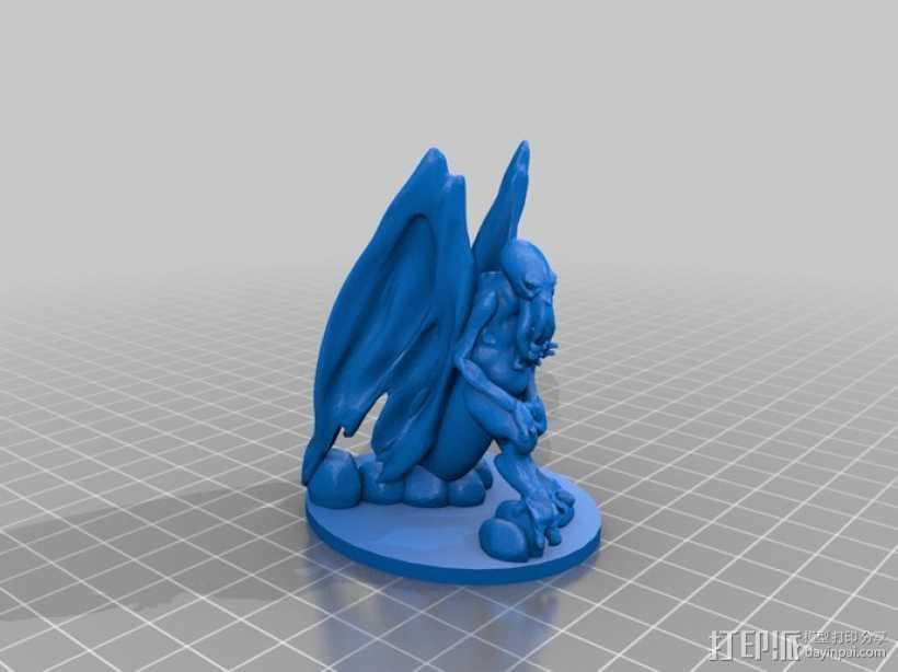 星之邪神克苏鲁 3D打印模型渲染图