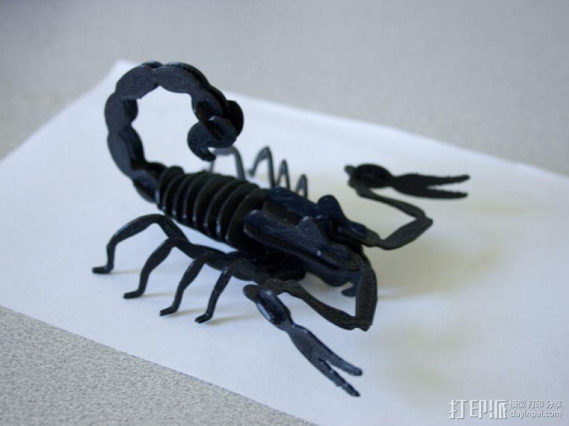 蝎子 3D打印模型渲染图