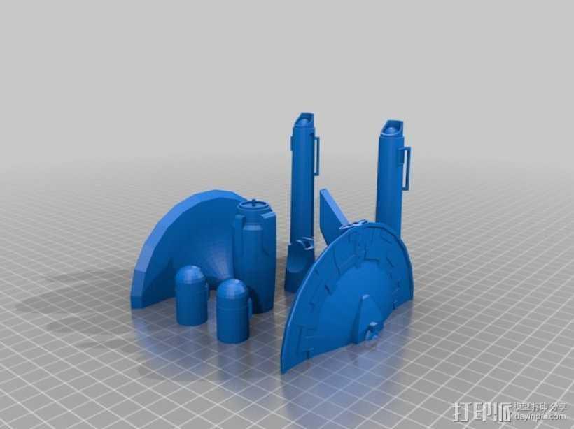 USS Enterprise NCC 1701星舰模型 3D打印模型渲染图