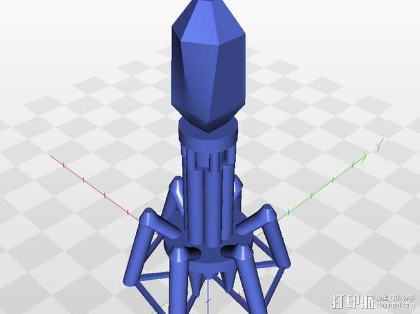 噬菌体病毒模型 3D打印模型渲染图