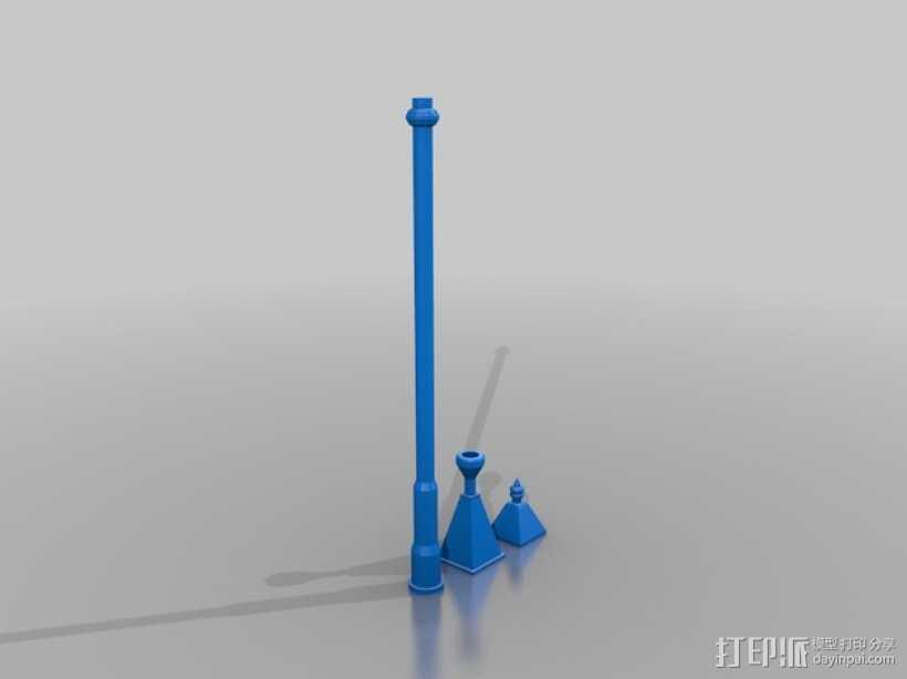 路灯 3D打印模型渲染图