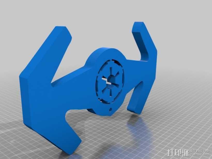 钛战机标志钥匙扣 3D打印模型渲染图
