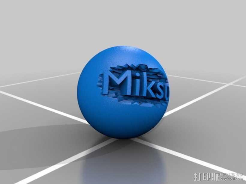 雕花小球 3D打印模型渲染图