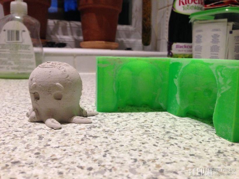 问好的章鱼模具 3D打印模型渲染图