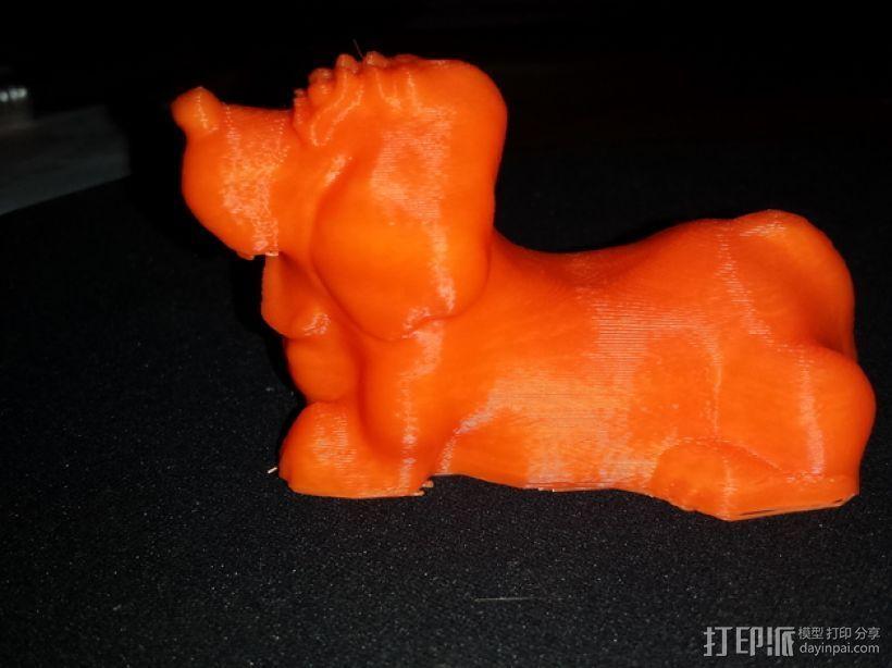 大猎犬 3D打印模型渲染图