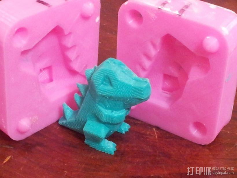 Totodile 小锯鳄模具 3D打印模型渲染图