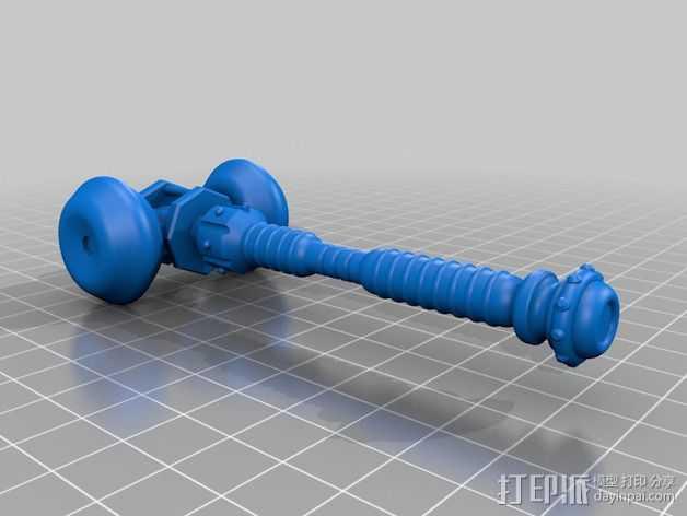 大雪橇 3D打印模型渲染图