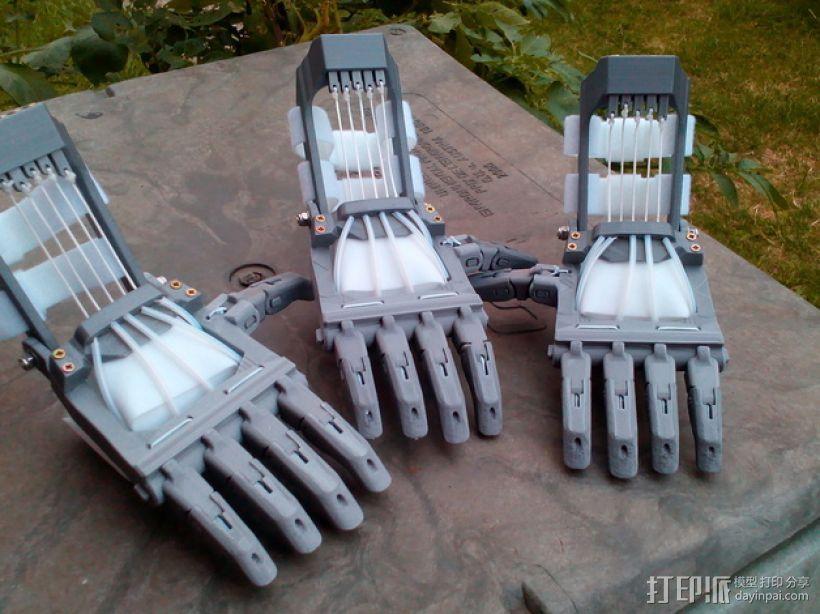 Talon Hand 轻型长手套 护手手套 3D打印模型渲染图