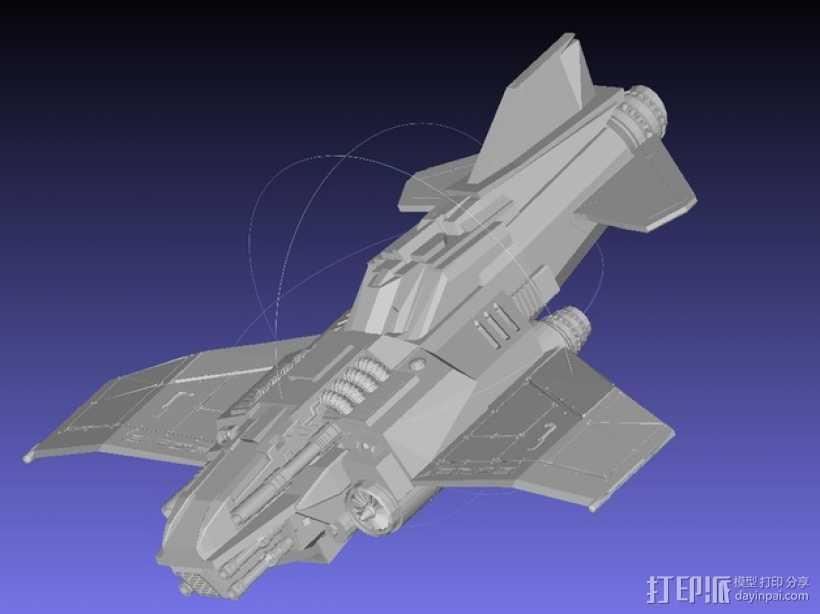 Thunder Lightning喷气式飞机 3D打印模型渲染图