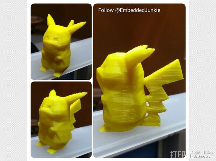 低面数皮卡丘模型 3D打印模型渲染图