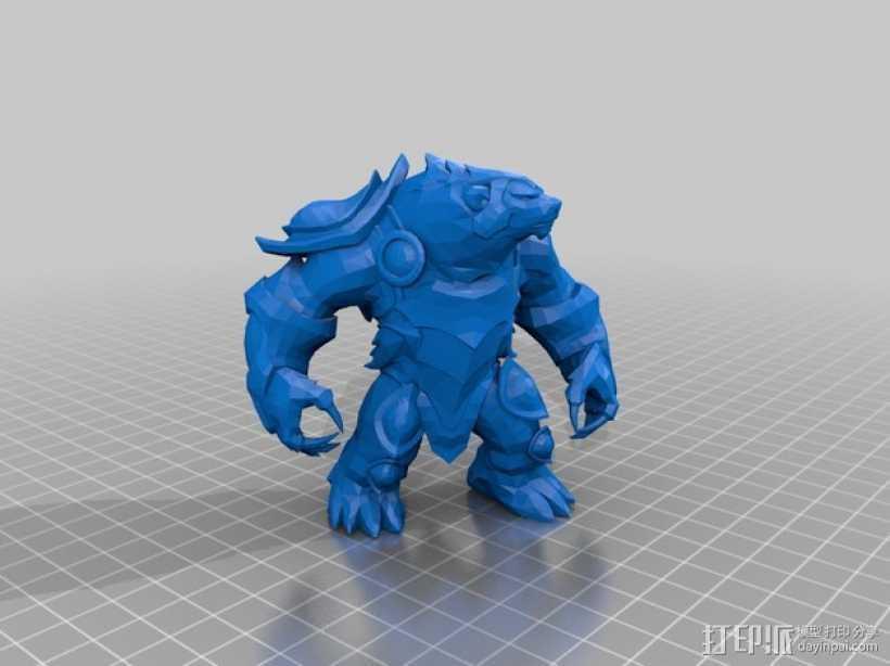 弗里贝尔熊 3D打印模型渲染图