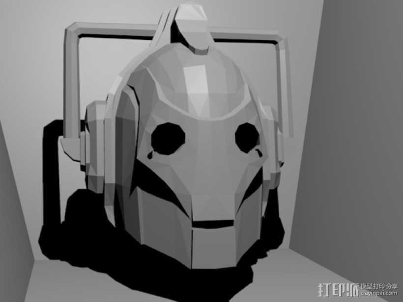 赛博人头像  3D打印模型渲染图