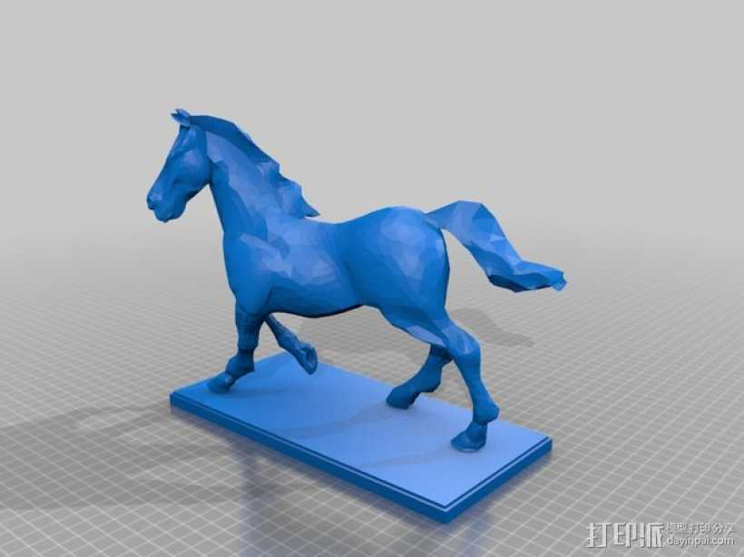 飞马雕塑 3D打印模型渲染图