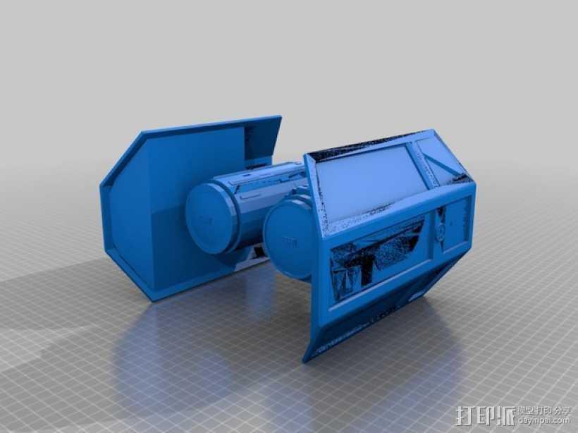 星球大战 钛战机 3D打印模型渲染图