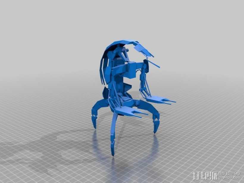 机械工兵 3D打印模型渲染图