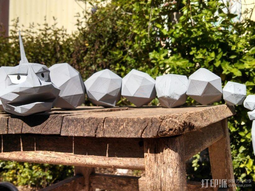 口袋妖怪大岩蛇 3D打印模型渲染图