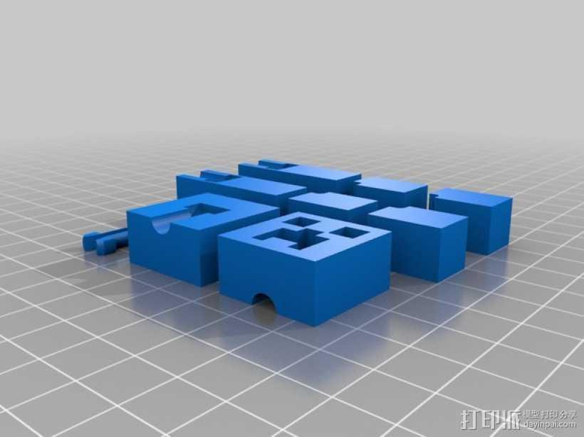 我的世界爬行者模型 3D打印模型渲染图