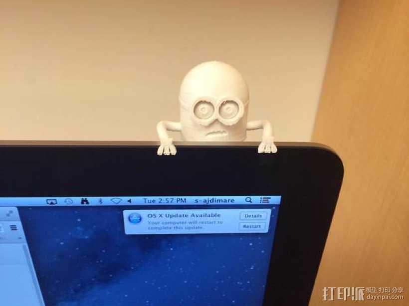 悬挂的小黄人 3D打印模型渲染图