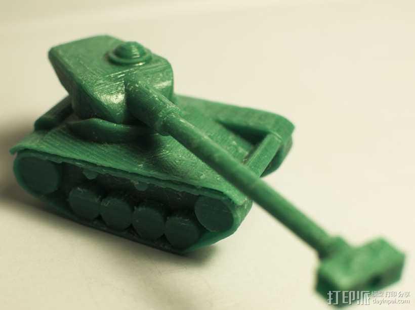 AMX 13 90坦克 3D打印模型渲染图