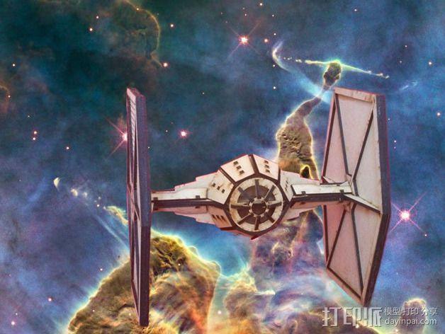 星球大战钛战机 3D打印模型渲染图