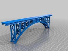 桁拱桥 火车道