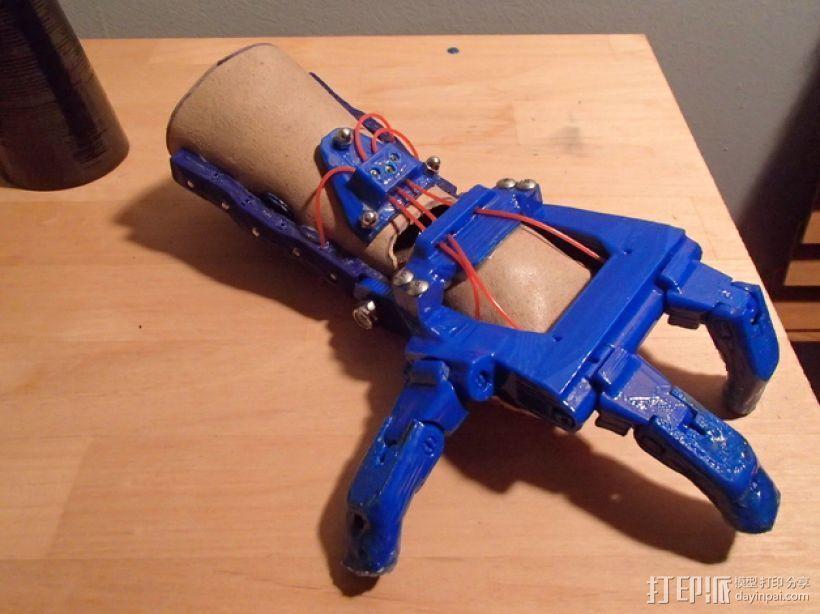假肢 机械手 3D打印模型渲染图
