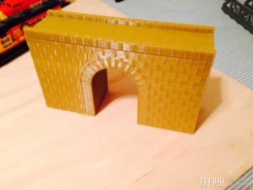 火车道 砖块桥 3D打印模型渲染图
