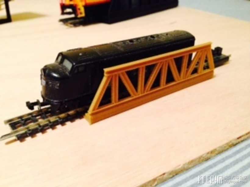 桁架桥 火车轨道 3D打印模型渲染图