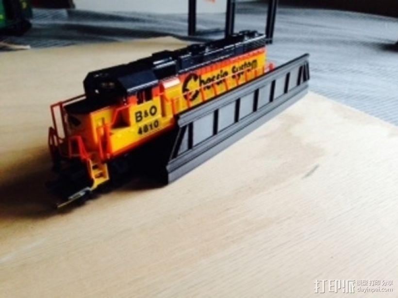 火车轨道 桥  3D打印模型渲染图