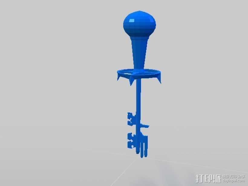 天际 钥匙 3D打印模型渲染图