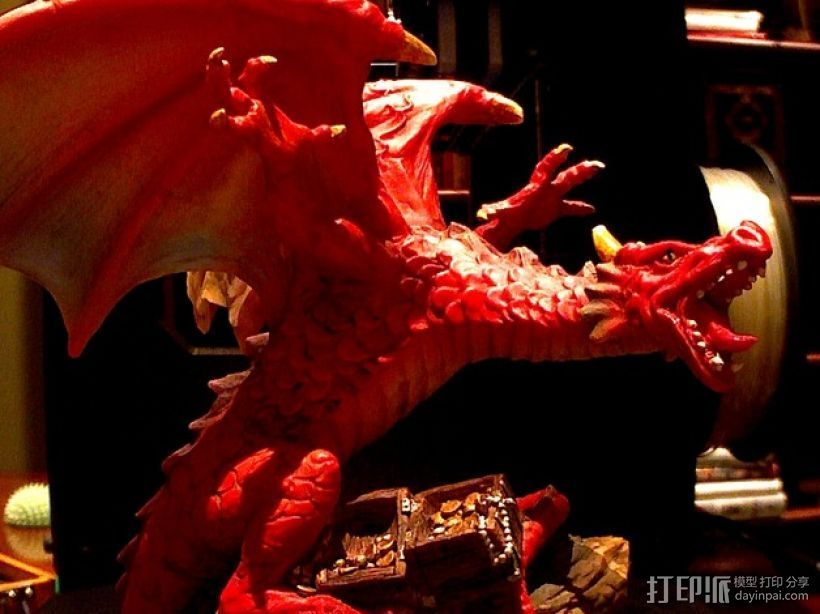 龙 3D打印模型渲染图