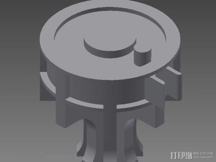 机械齿轮 3D打印模型渲染图