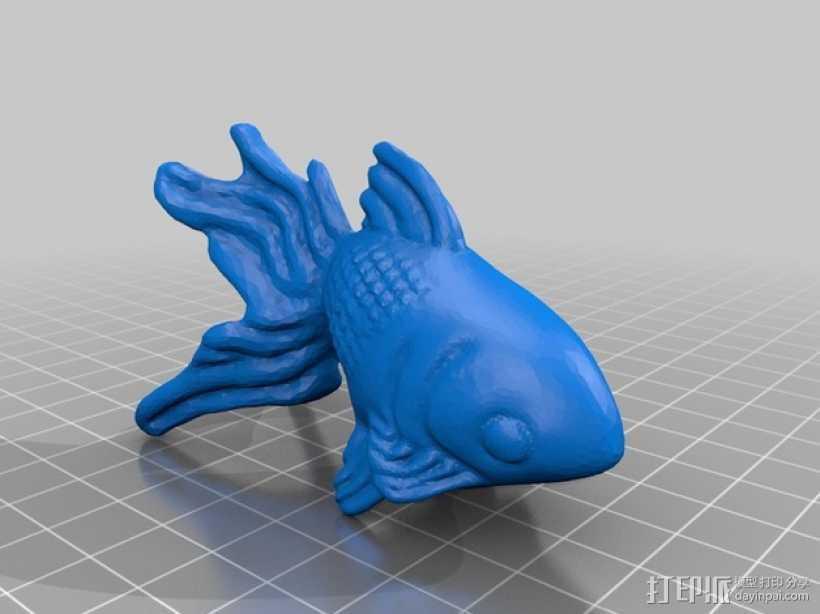 金鱼 3D打印模型渲染图